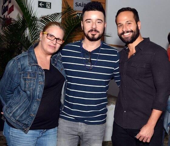 Renata Monteiro, Carlos Tufvesson e Marcelo Calero