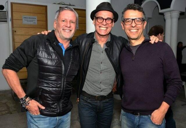 Cédric Gottesmann, Carlinhos de Jesus e Gustavo Gasparian