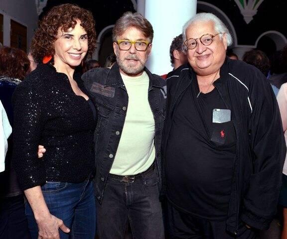 Claudia Alencar, Edwin Luisi e Carlos Alberto Serpa