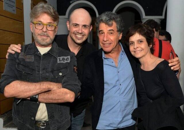 Edwin Luisi, Gustavo Pinheiro, Paulo Betti e Drika Moraes