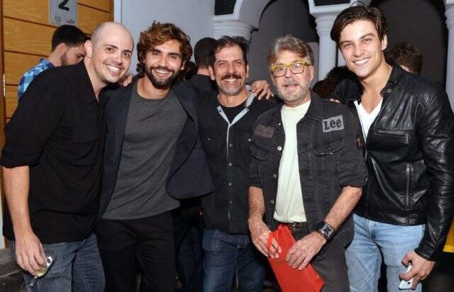 Gustavo Pinheiro, André Rosa, César Augusto, Edwin Luisi e Raphael Sander