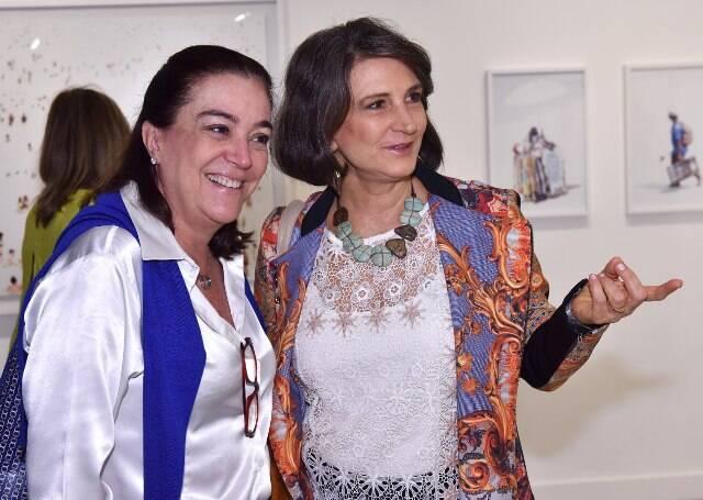 Cláudia Romano e Cristina Alvarenga