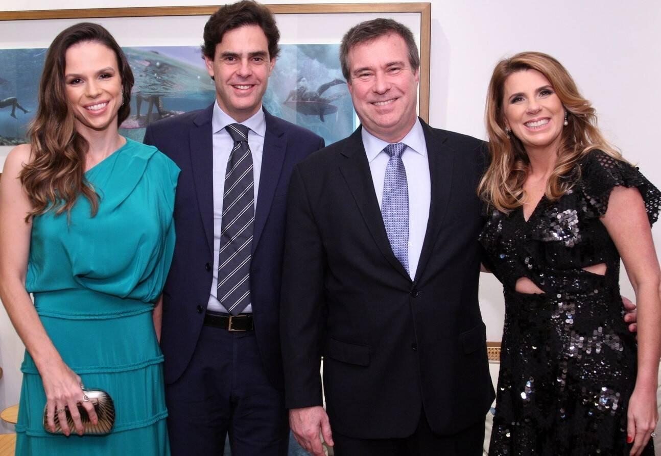 Ana Clara Sucolotti, Guilherme Benchimol, Gustavo e Danielle Brigagão  /Foto: Vera Donato