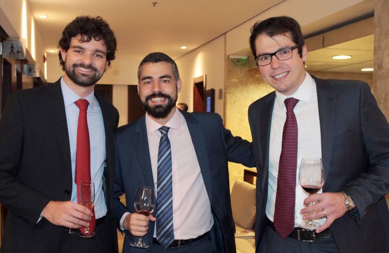 Pedro Brigagão, Eduardo Muniz e Rodrigo Caserta  /Foto: Vera Donato