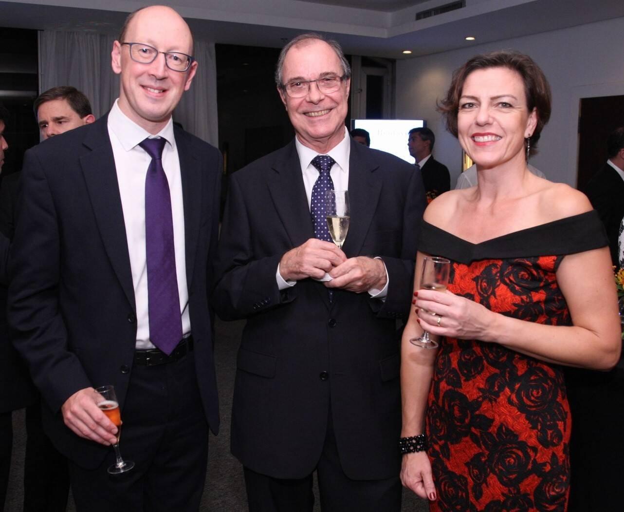 Simon Wood, William Ballantyne e Phillipa Wood  /Foto: Vera Donato