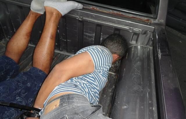 Um dos traficantes presos na operação