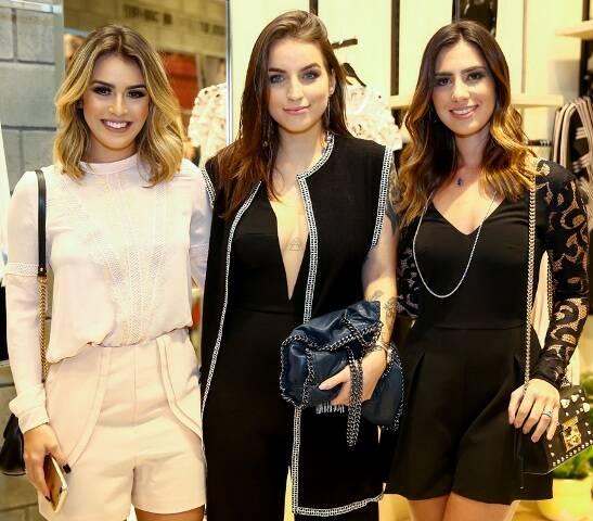 Mariana Saad, Bruna Inzueta e Nicole Pinheiro
