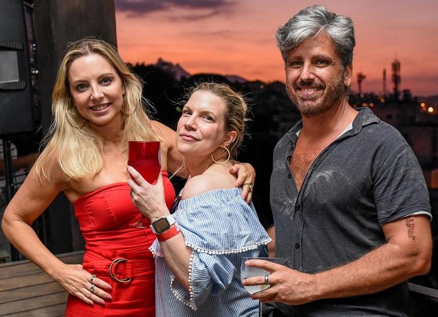 Daniela Toscano, Adriana Beltrão e Marcelo Riess /Foto: Mariama Prieto