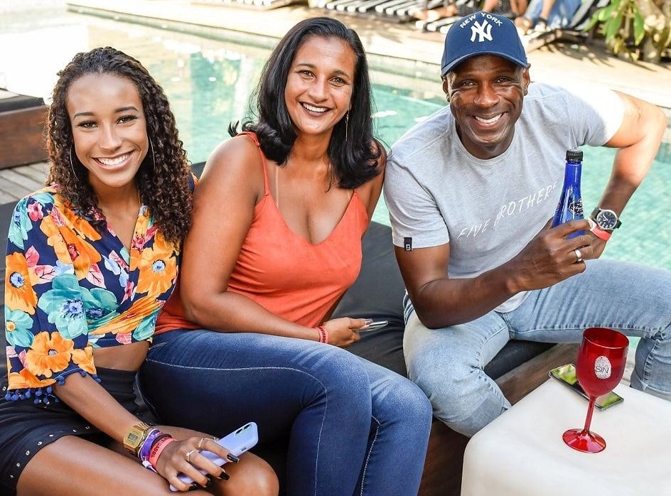Robson Caetano, com  Zainie Alves e a filha Luiza /Foto: Mariama Prieto