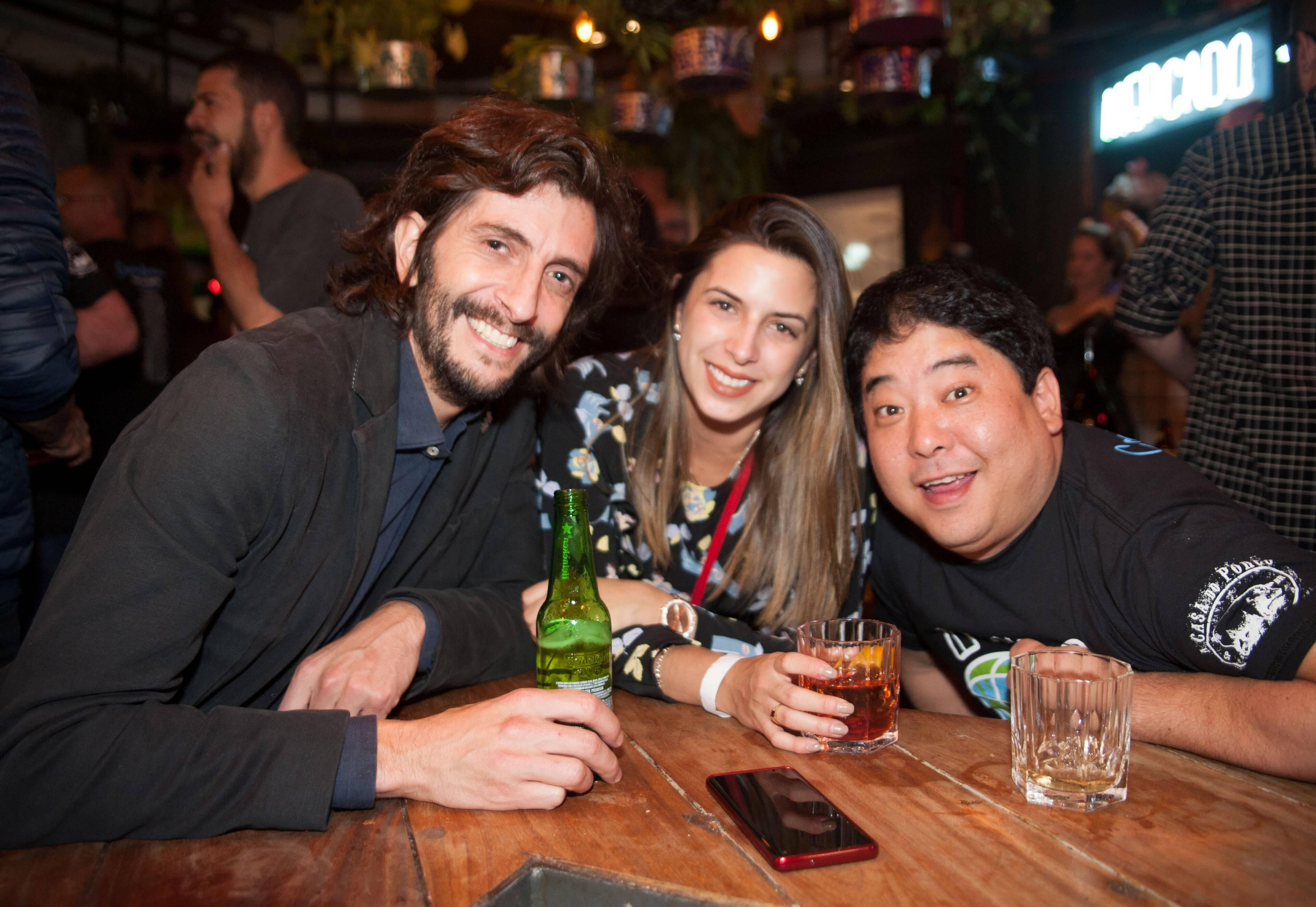Diego Perez Sosa, Mariana e Micha /Foto:  Rogério Gomes