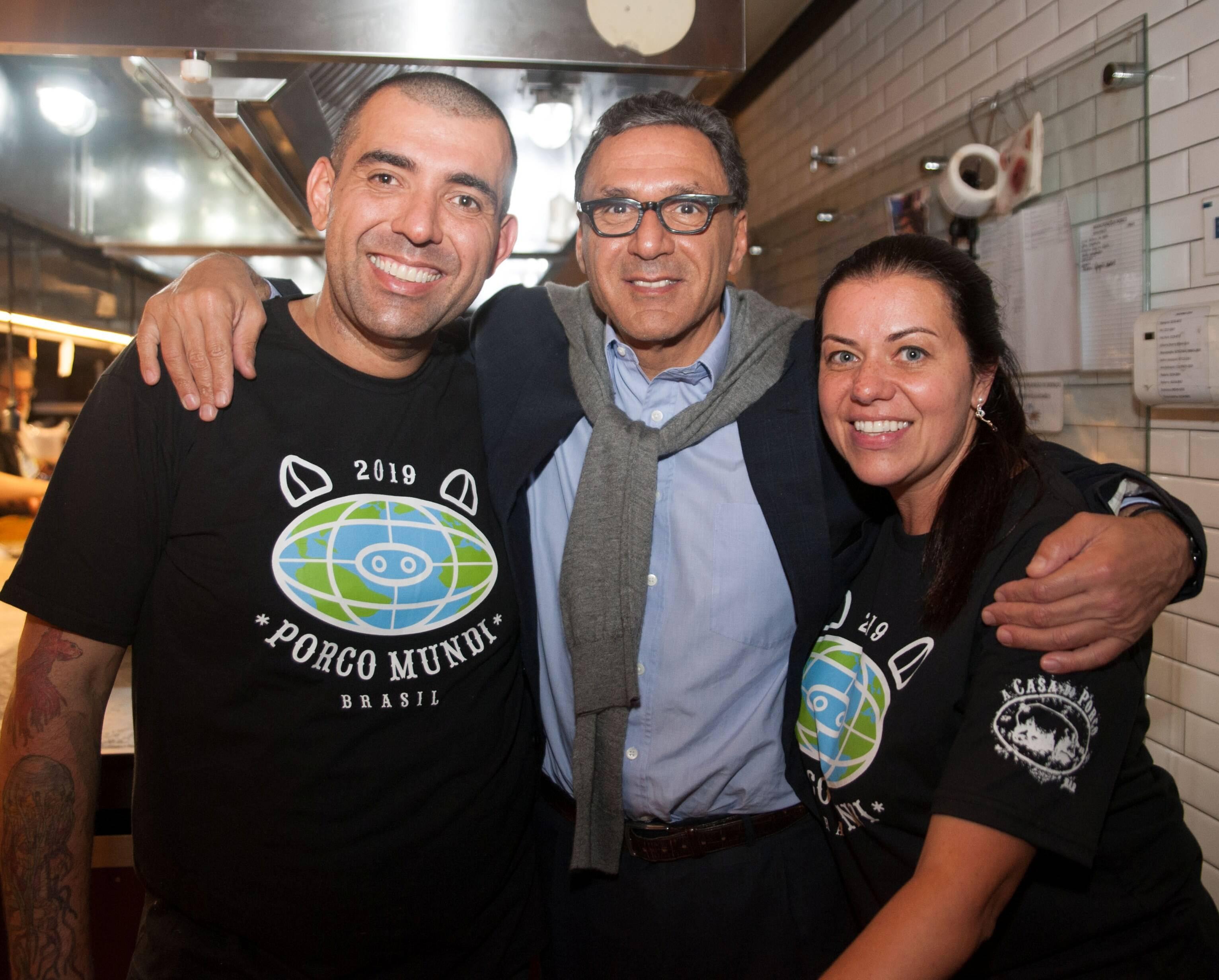 Jefferson Rueda, Rogerio Fasano e Janaina Rueda /Foto:  Rogério Gomes