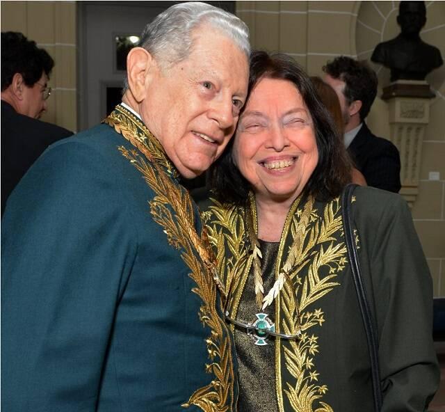 Arnaldo Niskier e Nélida Piñon