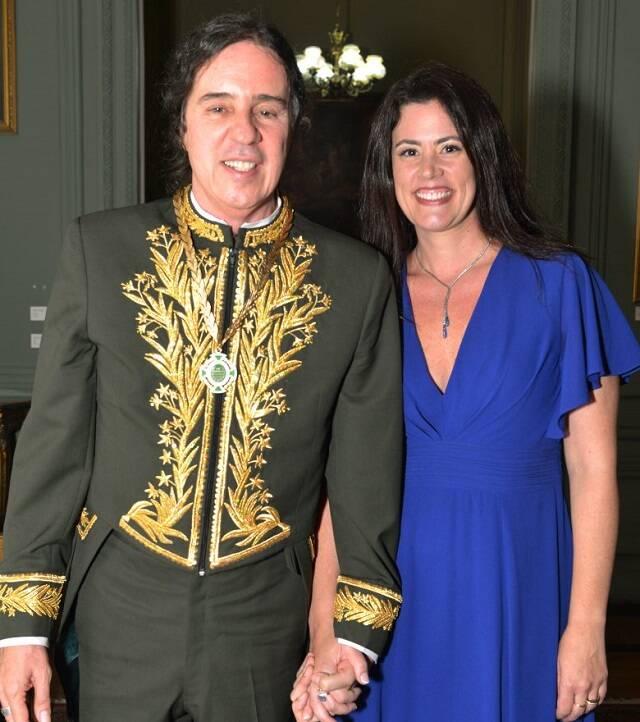 O casal Geraldinho Carneiro e Ana Paula Pedro