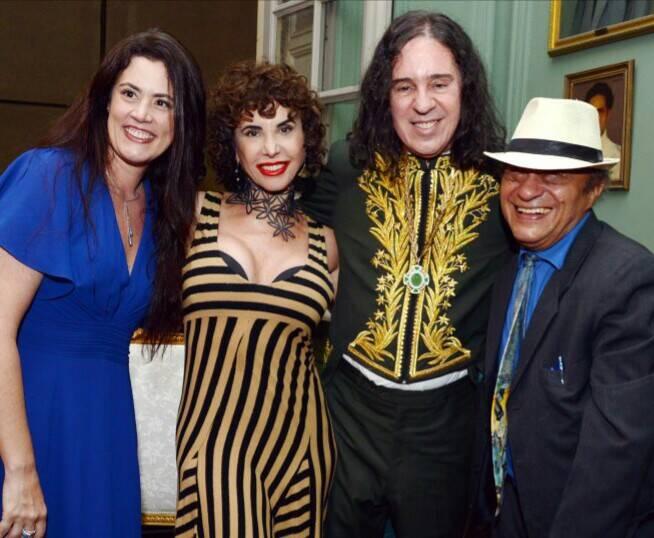 Ana Paula, Claudia Alencar, Geraldinho Carneiro e Mano Mello