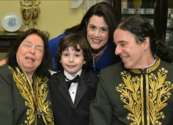 Nélida Pinon, Ana Paula, Geraldinho Carneiro e o filho Vinícius