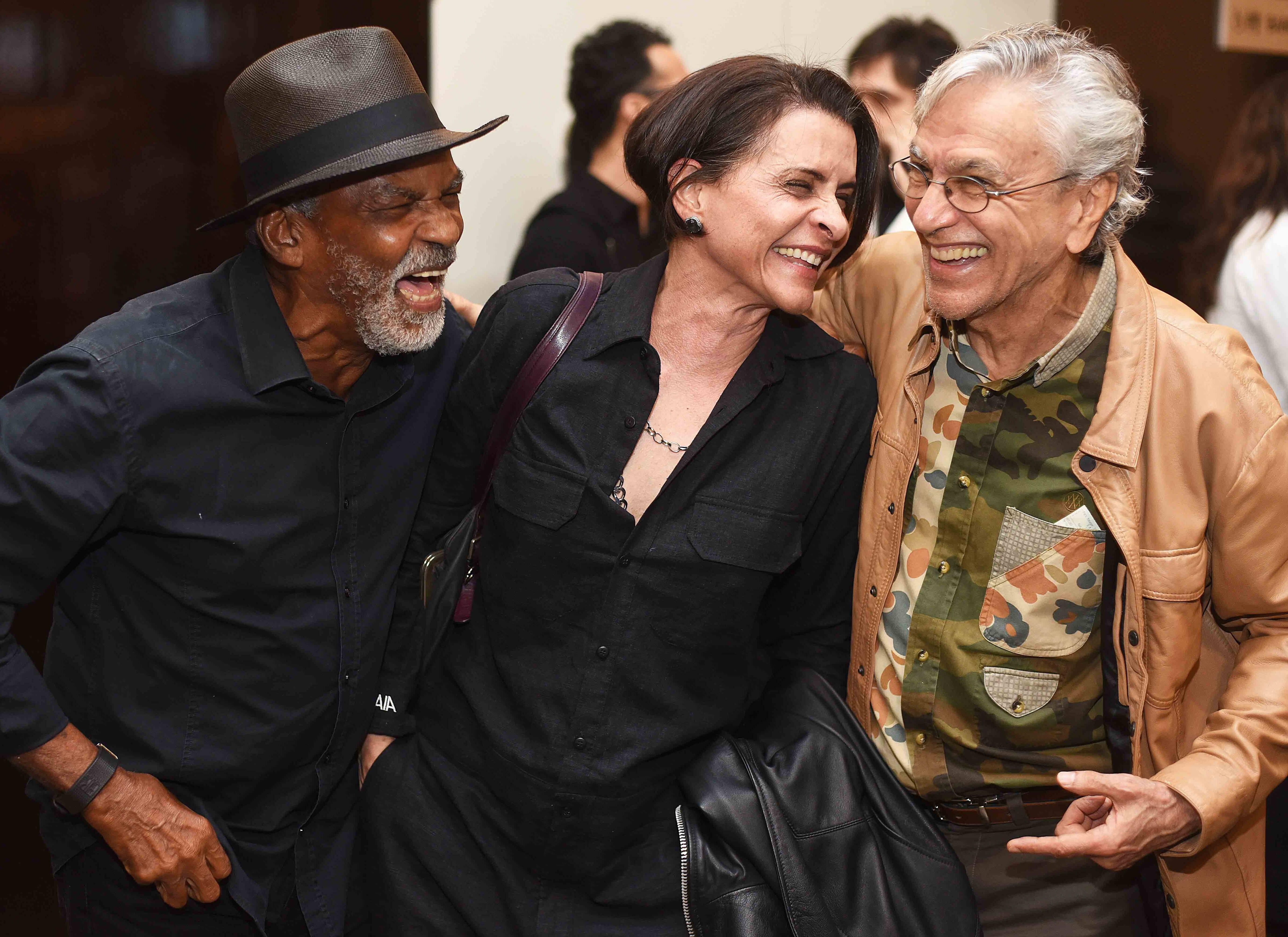 Antonio Pitanga, Marina Lima e Caetano Veloso  /Foto: Ari Kaye