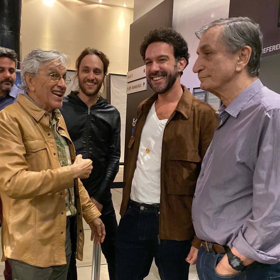 Caetano Veloso, Pedro Colombo, Marcio Debellian e  Antonio Cícero  /Foto: Thereza Eugenia