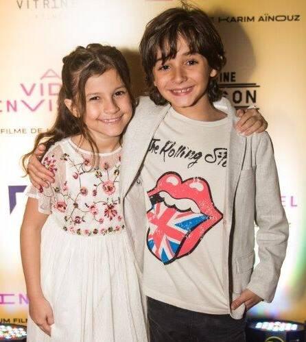 Os atores mirins Thales Miranda, de 9 anos, e Maria Carolina Basílio, de 8 /Foto: Divulgação
