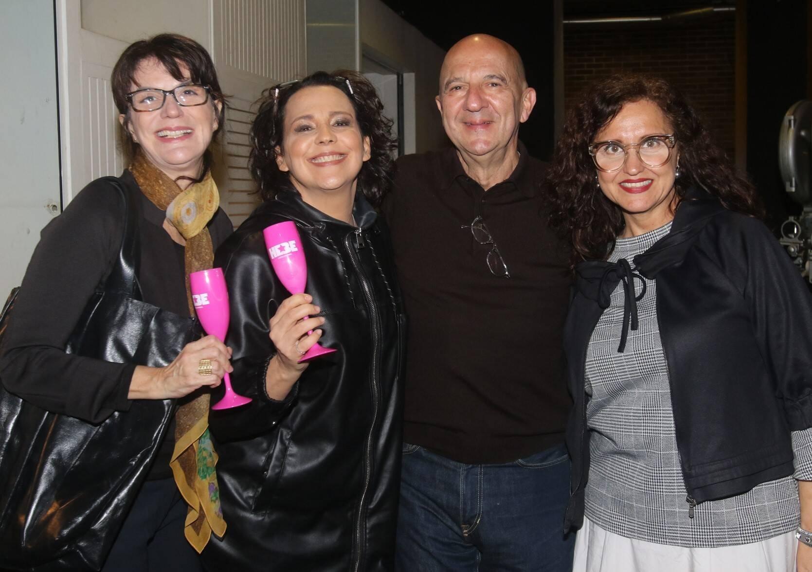 Licia Manzo, Ana Beatriz Nogueira, Lucas Pacheco e Ilda Santiago /Foto: Eny Miranda/ Cia da Foto