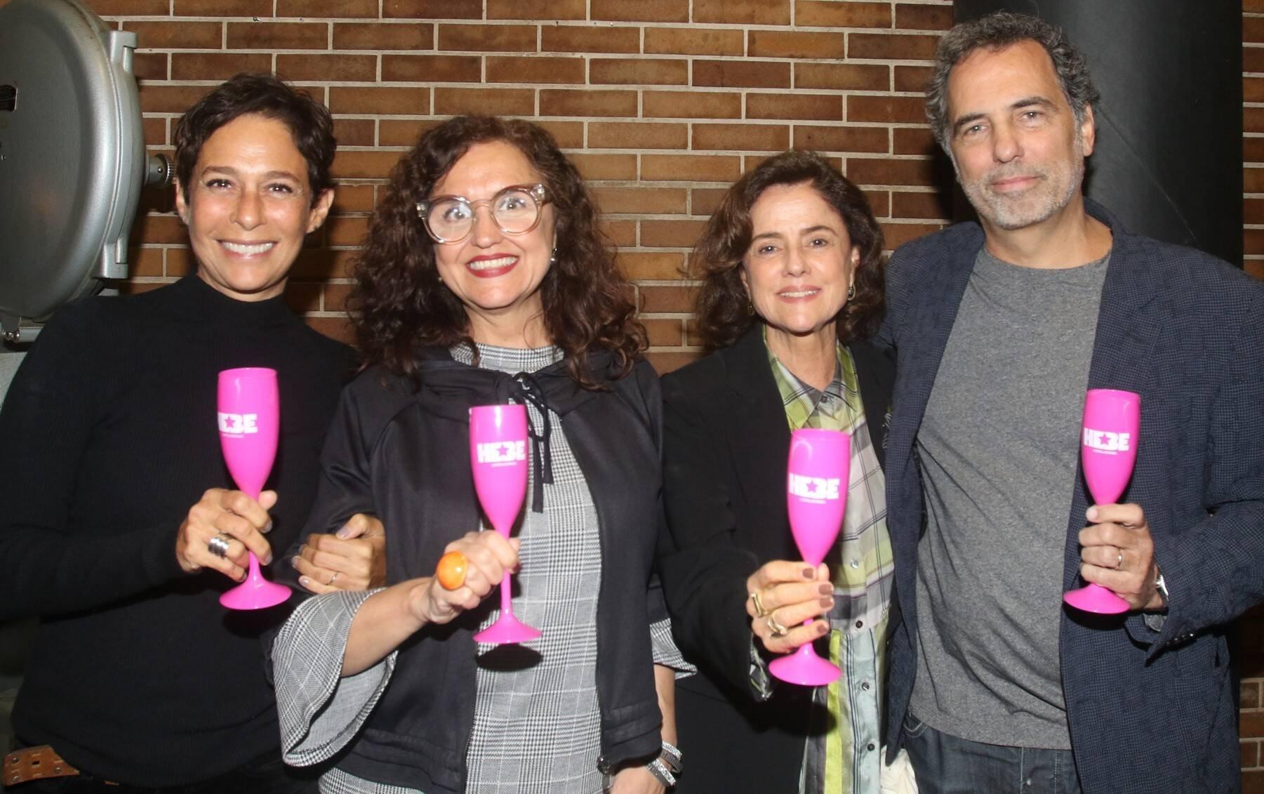 Andréa Beltrão, Ilda Santiago, Marieta Severo, e Maurício Farias  /Foto: Eny Miranda/ Cia da Foto