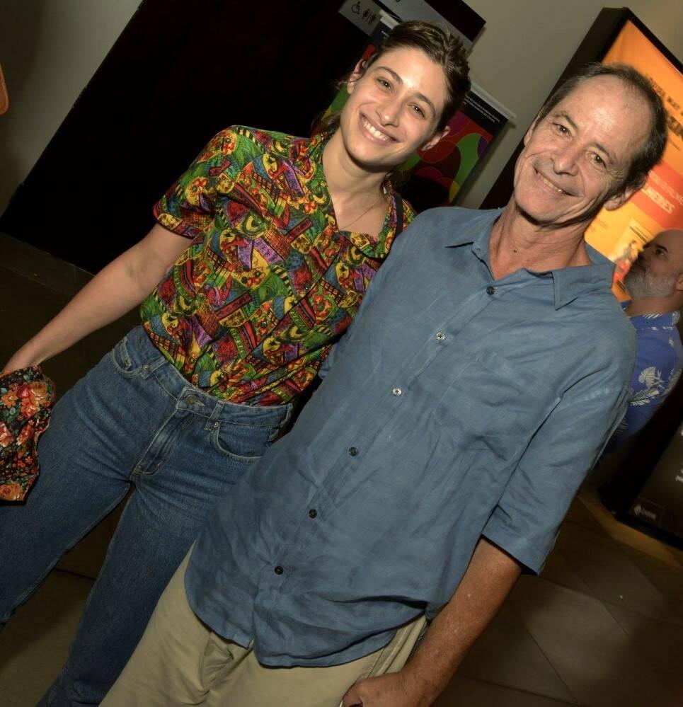 Luisa com o pai, Guel Arraes /Foto: Cristina Granato