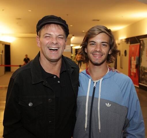 Rodrigo Santos com o filho Leonardo
