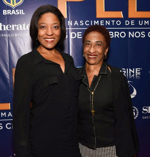 Danielle e Maria Lúcia Nascimento, sobrinha e irmã do Pelé, respectivamente