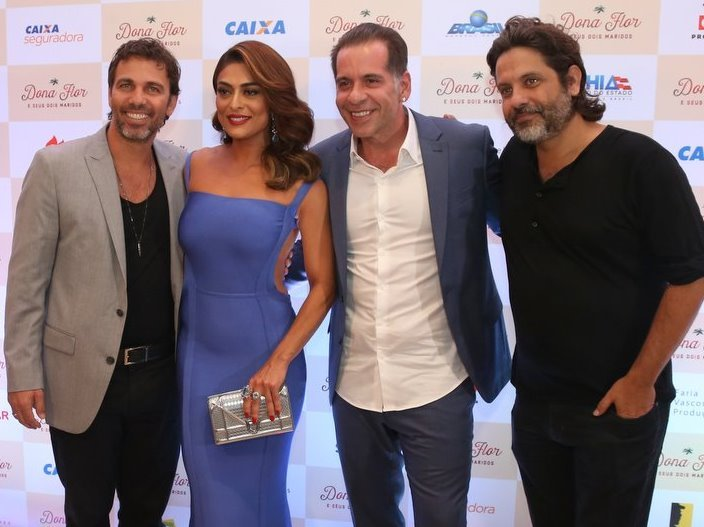 Marcelo Faria, Juliana Paes, Leandro Hassum e Pedro Vasconcellos