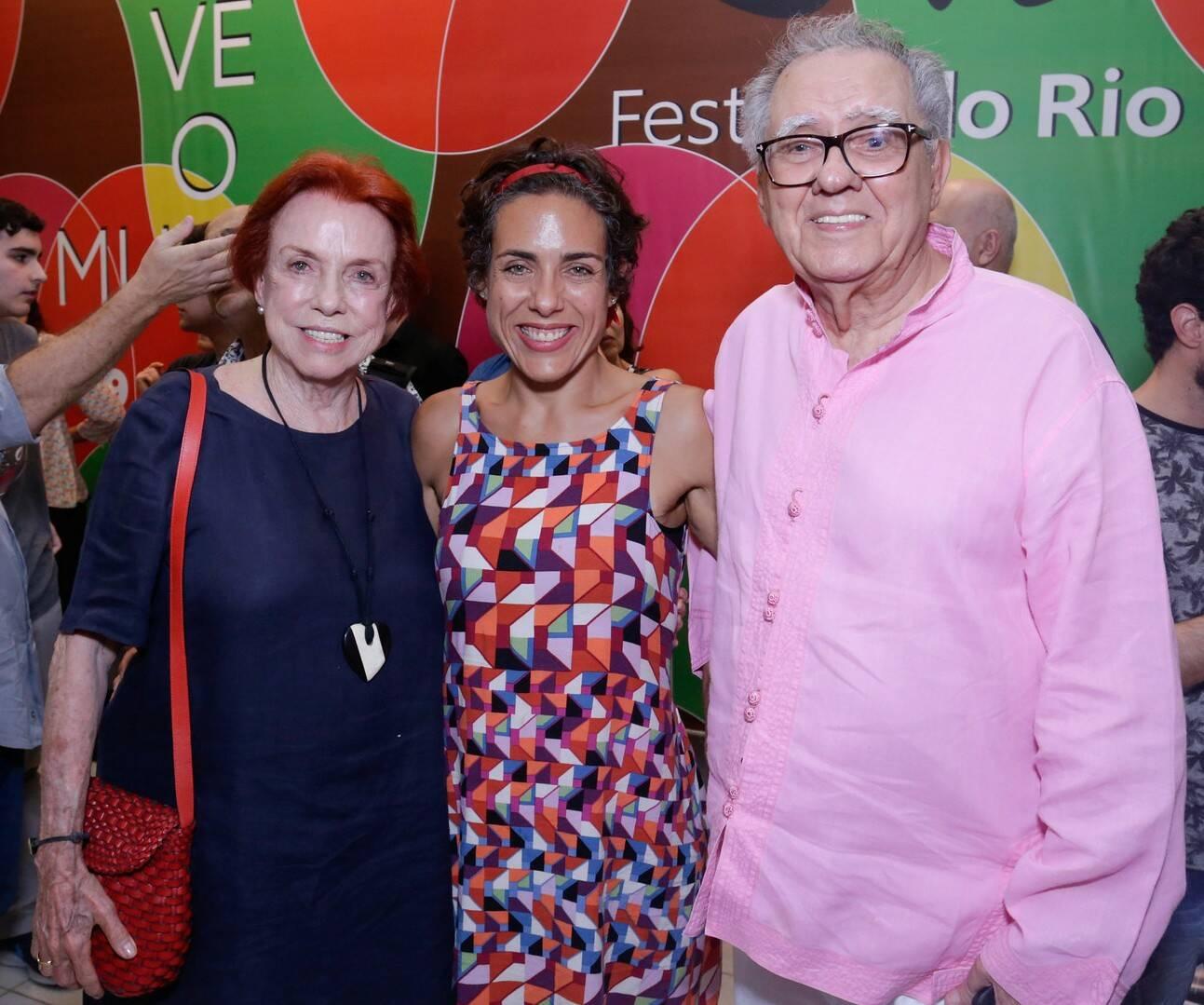 Lucy Barreto, Júlia Barreto e Luiz Carlos Barreto /Foto: Rogerio Resende