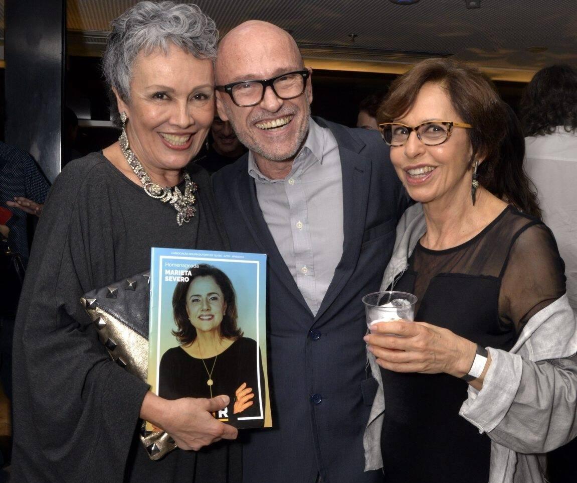 Analu Pretes, Gilberto Gravonski e Stella Freitas  /Foto: Cristina Granato