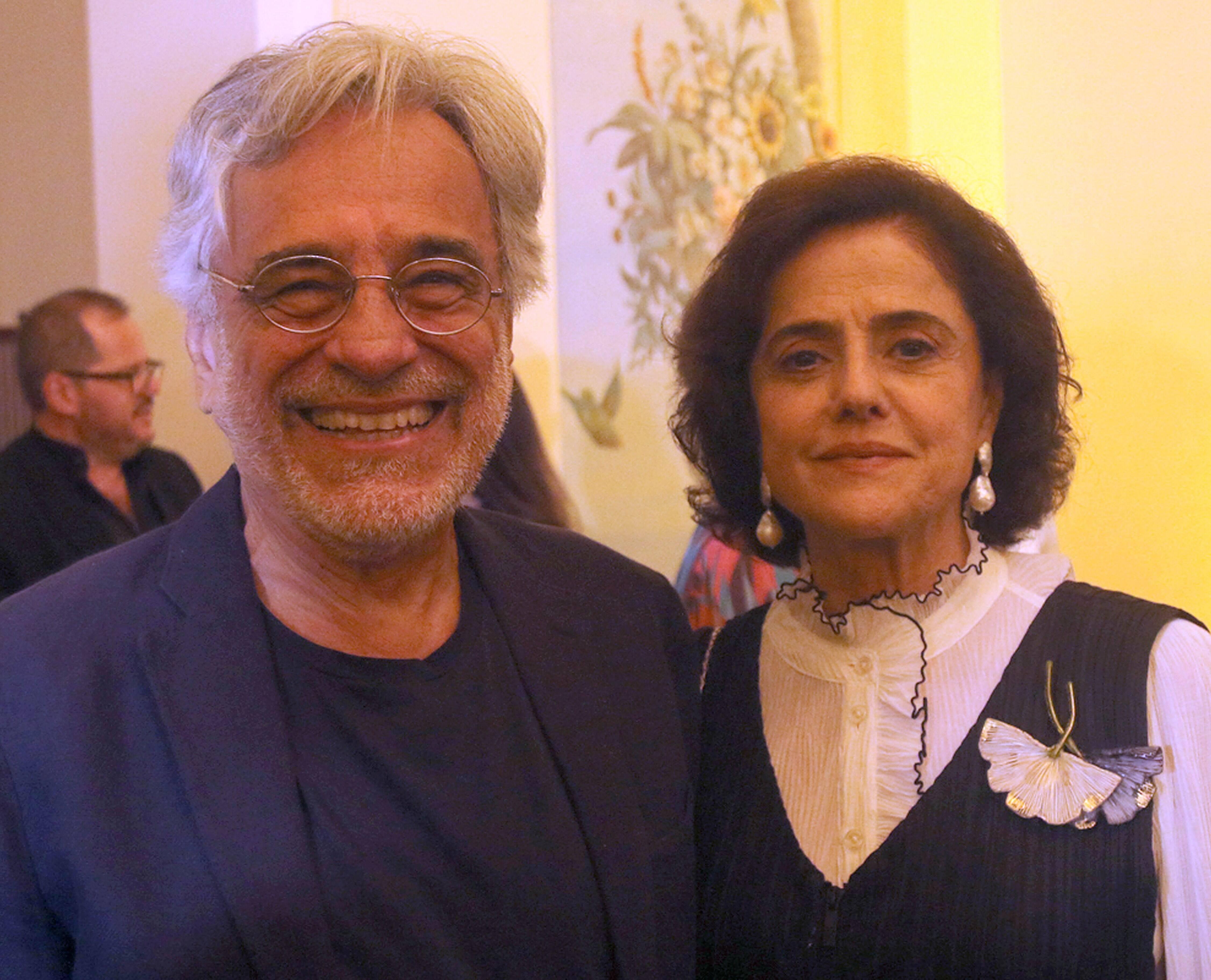 O casal Aderbal Freire Filho e Marieta Severo /Foto: Eny Miranda