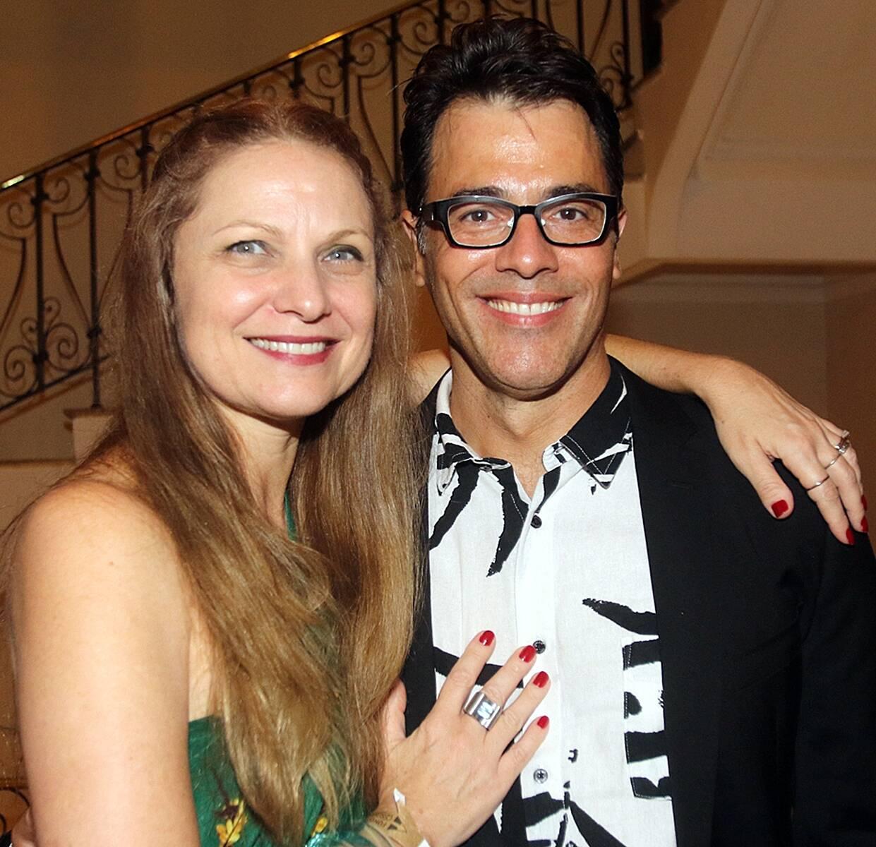O casal Alexandra Di Calafiori e Claudio Lins /Foto: Eny Miranda
