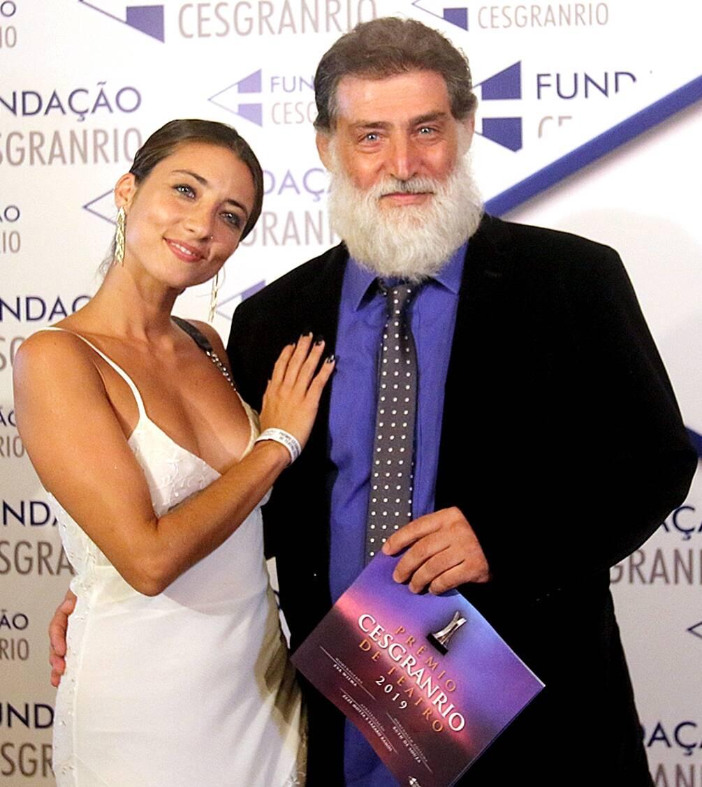 A triz Júlia Oristanio com seu pai Giuseppe Oristanio /Foto: Eny Miranda