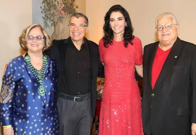 Hildegard Angel, Paulo Betti, Antônia Frering e Carlos Alberto Serpa