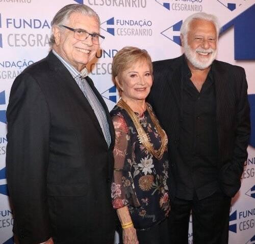 Tarcísio Meira, Glória Menezes e Antônio Fagundes