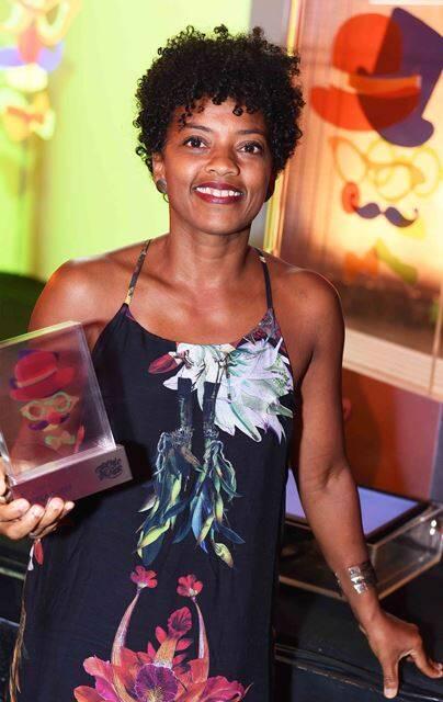 """Cristina Moura, vencedora da categoria de melhor direção com o espetáculo """"Nu de Botas"""""""