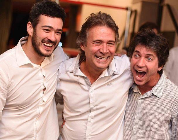 Marcos Veras, Nelson Freitas e Daniel Herz