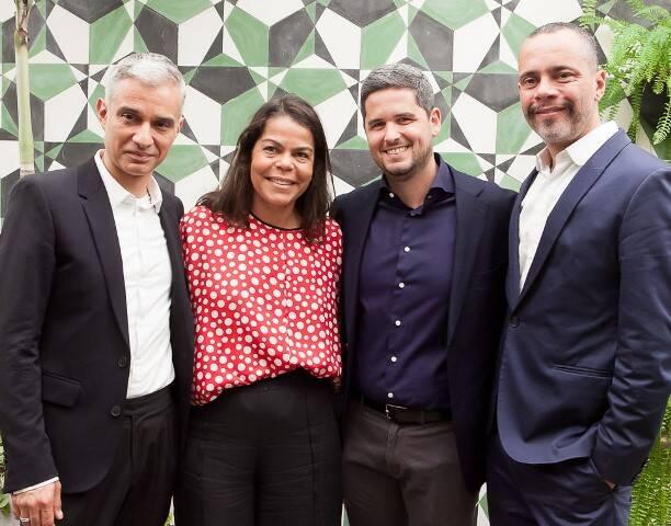 Sylvain Justum, Daniela Falcão, Rony Meisler e Ricardo Cruz