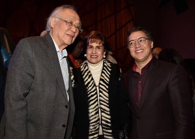 Ricardo Ohtake, Milú Villela e Eduardo Saron