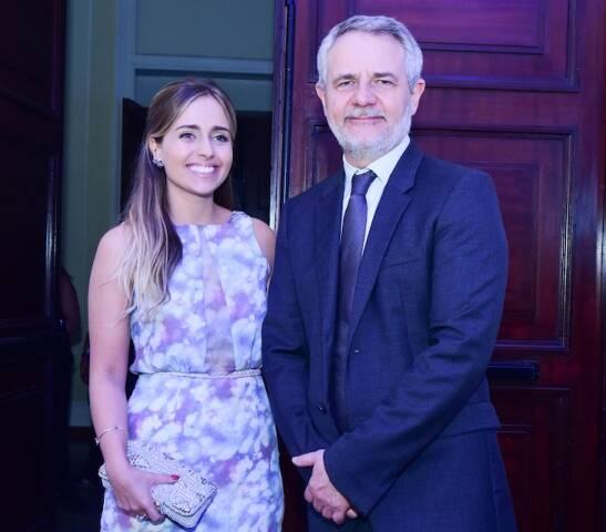 Carlos Henrique Schroder com a filha Luisa