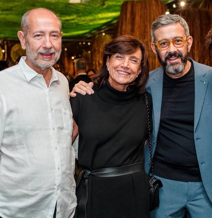 Fernando Cocchiarale, Frances Reynolds e Valdick Jatobá /Foto: Bruno Ryfer