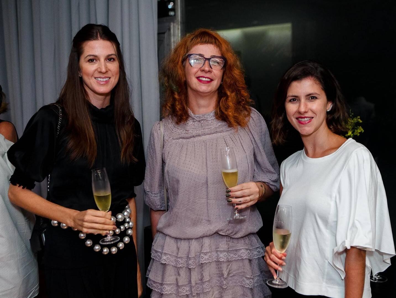 Juliana Voigt, Carla Del Valle e Claudia Guimarães  /Foto: Bruno Ryfer