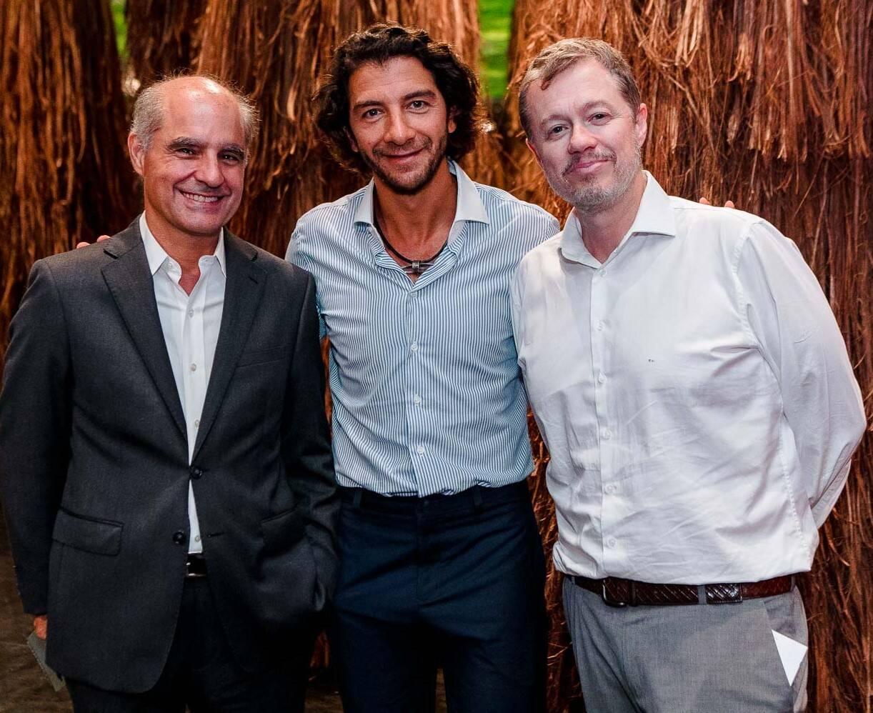 Eugenio Pacelli, Fabio Szwarcwald e Paulo Vieira   /Foto: Bruno Ryfer