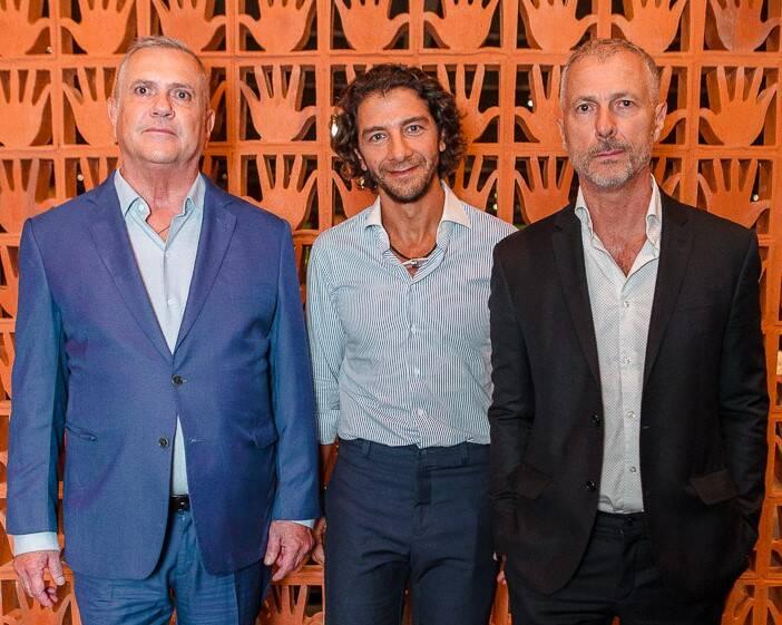 Fernando Campana, Fabio Szwarcwald e Humberto Campana  /Foto: Bruno Ryfer