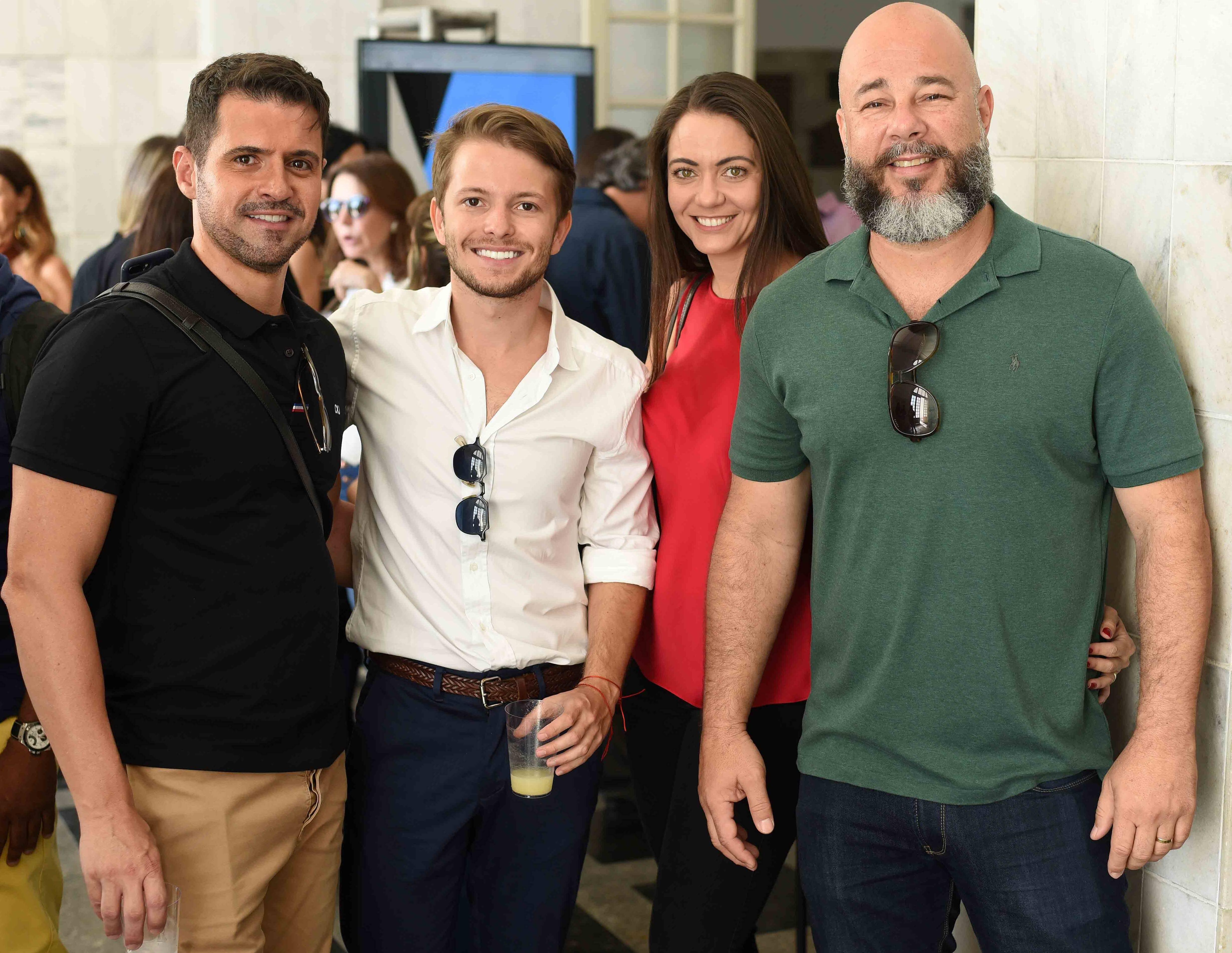 Rodrigo Barbosa, Victor Niskier, Luciana Placido e Sandro Ward /Foto: Ari Kaye
