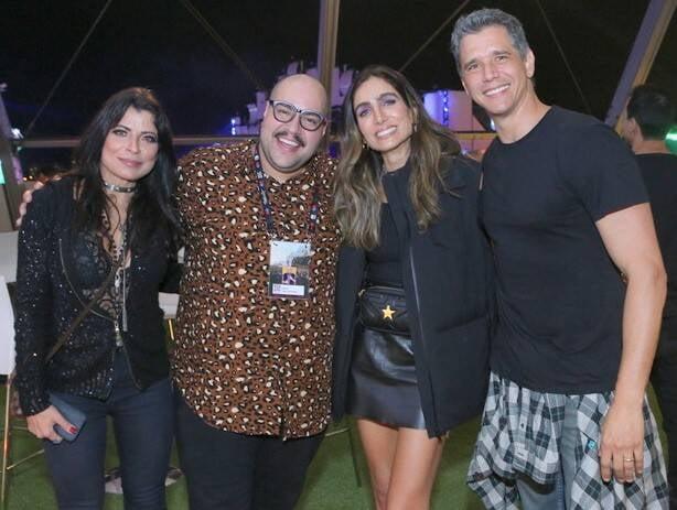 Anna Lima, Tiago Abravanel, Marcio Garcia e Andréa Santa Rosa /Foto: Reginaldo Teixeira