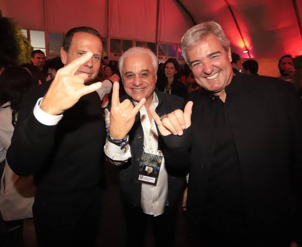 João Doria, Roberto Medina e Thomaz Naves /Foto: Fred Pontes