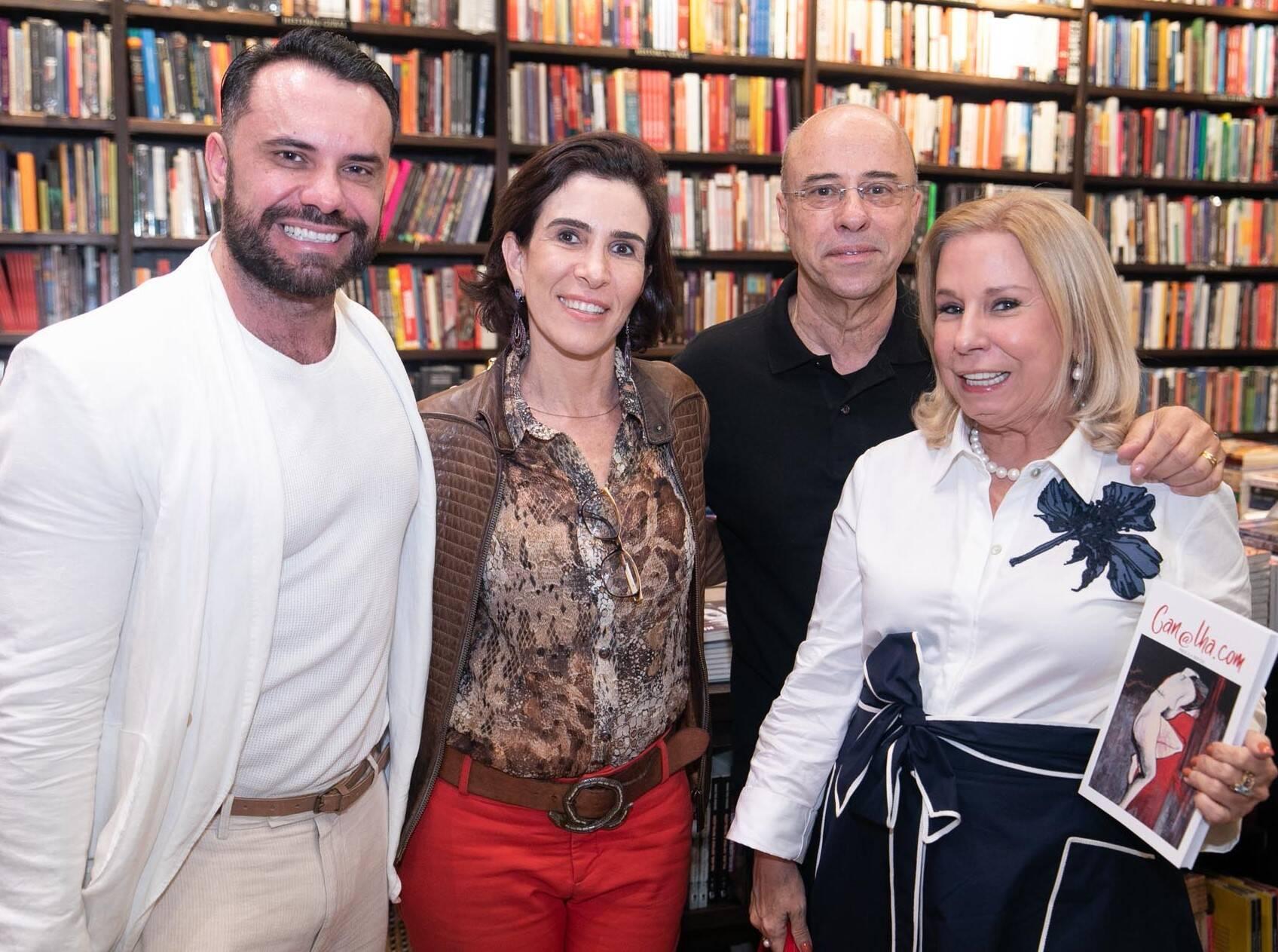 Eduardo Santos, Esther Nigri, Lucio Lage e Vivi Cohen  /Foto: Miguel Sá