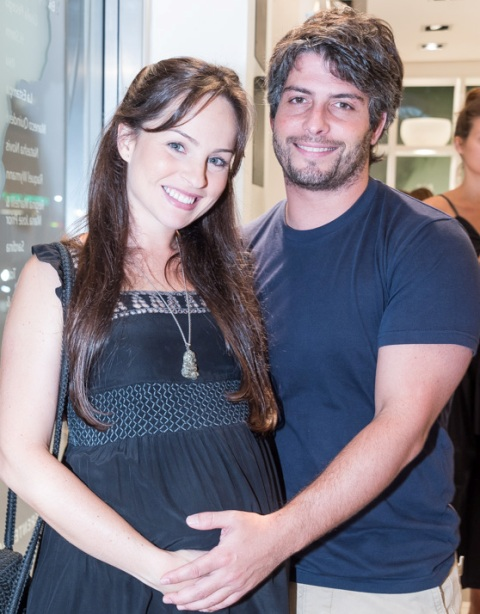 Patrícia Bonaparte e Leandro Novis