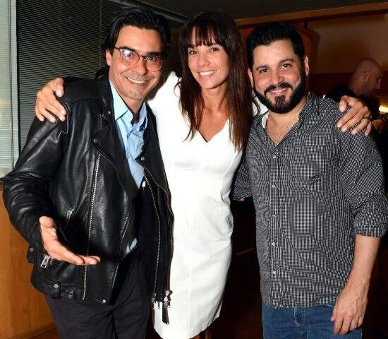 André Gonçalves, Amanda Lee e Rodolfo Mesquita